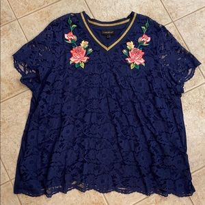 Beautiful Lane Bryant Lace Front Top, Size 24